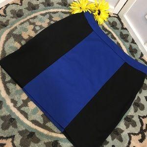 Dresses & Skirts - Black pencil skirt with blue stripe